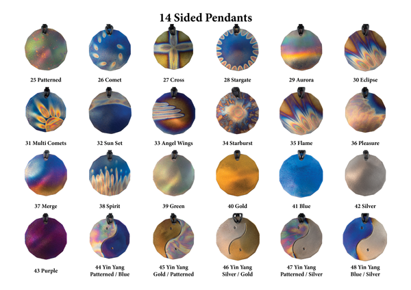 14 Sided Pendants
