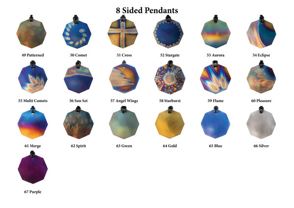 8 Sided Pendants